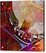 Banjo And Friend Digital Banjo And Guitar Art By Steven Langston Acrylic Print by Steven Lebron Langston