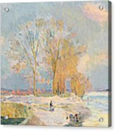 Banks Of The Seine And Vernon In Winter Acrylic Print by Albert Charles Lebourg