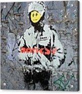 Banksy  Acrylic Print by A Rey