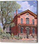 Bannock-montana-hotel Meade Acrylic Print by Guido Borelli