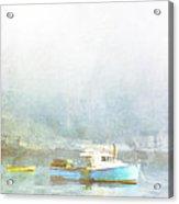 Bar Harbor Maine Foggy Morning Acrylic Print by Carol Leigh