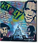Barack And Common And Kanye Acrylic Print by Tony B Conscious