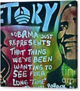 Barack And Fifty Cent Acrylic Print by Tony B Conscious
