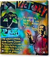 Barack And Jay Z Acrylic Print by Tony B Conscious