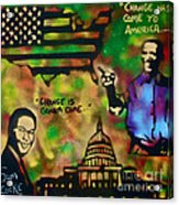 Barack And Sam Cooke Acrylic Print by Tony B Conscious