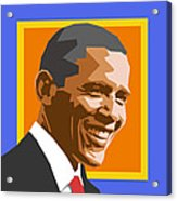Barack Acrylic Print by Douglas Simonson