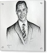 Barack Obama 2 Acrylic Print by Michael Morgan