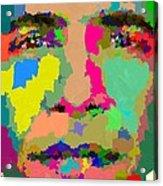 Barack Obama - Abstract 01 Acrylic Print by Samuel Majcen