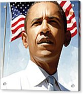 Barack Obama Artwork 1 Acrylic Print by Sheraz A