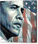 Barack Obama Artwork 2 B Acrylic Print by Sheraz A