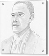 Barack Obama Acrylic Print by M Valeriano