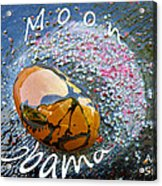 Barack Obama Moon Acrylic Print by Augusta Stylianou