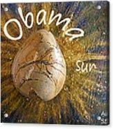 Barack Obama Sun Acrylic Print by Augusta Stylianou