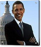 Barack Obama Acrylic Print by Tilen Hrovatic