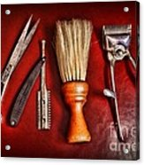 Barber - After The Haircut Acrylic Print by Paul Ward