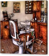 Barber - The Barber Chair Acrylic Print by Mike Savad
