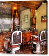 Barber - The Barber Shop II Acrylic Print by Mike Savad