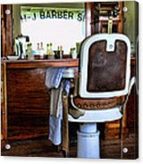 Barber - The Barber Shop Acrylic Print by Paul Ward