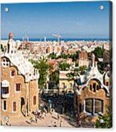 Barcelona Park Guell Antoni Gaudi Acrylic Print by Matthias Hauser