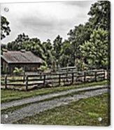 Barn And Corral Acrylic Print by Guy Shultz