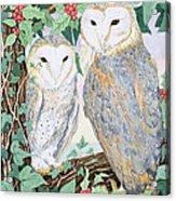 Barn Owls Acrylic Print by Suzanne Bailey