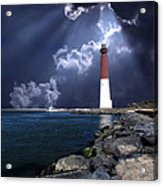Barnegat Inlet Lighthouse Nj Acrylic Print by Skip Willits