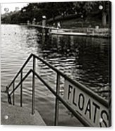 Barton Springs Pool In Austin Acrylic Print by Kristina Deane