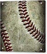 Baseball - A Retired Ball Acrylic Print by Paul Ward