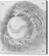 Baseball Glove Acrylic Print by Michele Engling