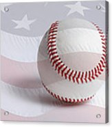 Baseball Acrylic Print by Heidi Smith