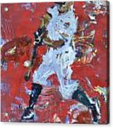 Baseball Painting Acrylic Print by Robert Joyner