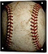 Baseball Seams Acrylic Print by David Patterson