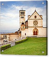 Basilica Of Saint Francis Acrylic Print by Susan Schmitz