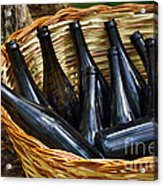 Basket With Bottles Acrylic Print by Carlos Caetano