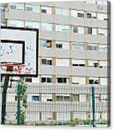 Basketball Court In A Social Neighbourhood Acrylic Print by Luis Alvarenga