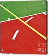 Basketball Court Acrylic Print by Luis Alvarenga
