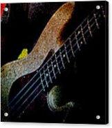 Bass Guitar Acrylic Print by Bob Orsillo