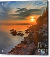 Bass Harbor Sunset Acrylic Print by Adam Jewell