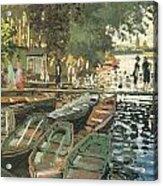 Bathers At La Crenovillere Acrylic Print by Claude Monet