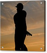 Batter At Dawn - Phillies Acrylic Print by Bill Cannon