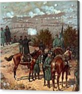 Battle Of Chattanooga Acrylic Print by American School