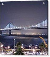 Bay Bridge Grand Lighting Ceremony Acrylic Print by David Yu