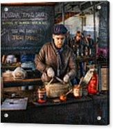 Bazaar - We Sell Tomato Sauce  Acrylic Print by Mike Savad