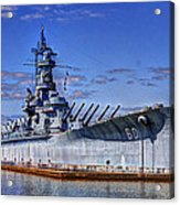 Bb-60 Uss Alabama Acrylic Print by Barry Jones