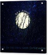 Be A Dreamer Acrylic Print by Robin Dickinson
