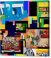 be a good friend to those who fear Hashem 2 Acrylic Print by David Baruch Wolk