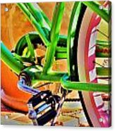 Beach Cruiser Acrylic Print by Helen Carson