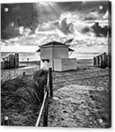 Beach Entrance To Old Glory - Black And White Acrylic Print by Ian Monk