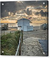 Beach Entrance To Old Glory - Hdr Style Acrylic Print by Ian Monk