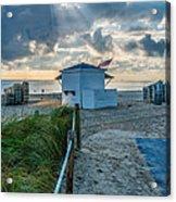 Beach Entrance To Old Glory Acrylic Print by Ian Monk